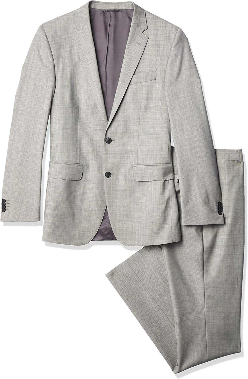 Ike Behar Men's Two-Button Side-Vent Wool Suit with Flat-Front Pant