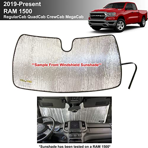 new arrival YelloPro Custom Fit Automotive Reflective Windshield Sunshade UV Reflector for wholesale 2019 2020 2021 Dodge RAM 1500 2Dr RegularCab, 4Dr QuadCab, CrewCab, MegaCab lowest Pickup sale