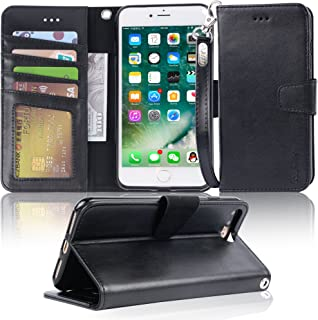 Arae Case for iPhone 7 Plus/iPhone 8 Plus, Premium PU Leather Wallet Case with Kickstand and Flip Cover for iPhone 7 Plus ...