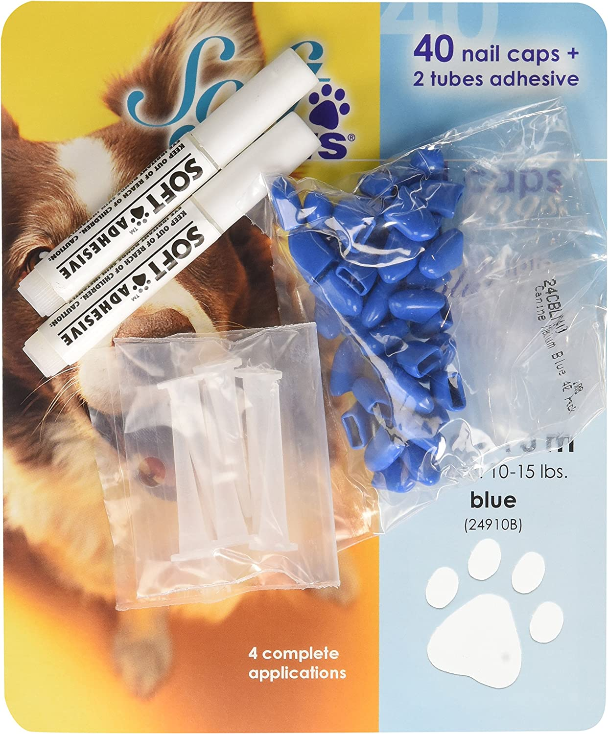 Soft Claws Canine Dog and Cat Nail Take Home B Medium Caps Special Campaign Kit safety
