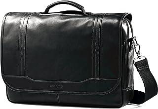 Samsonite Colombian Leather Flapover Briefcase, Black (Black) - 50789-1041