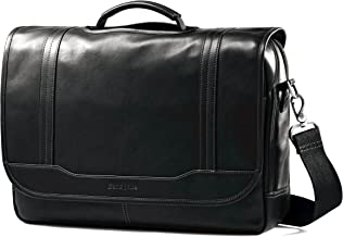 Samsonite Colombian Leather Flapover Briefcase, Black