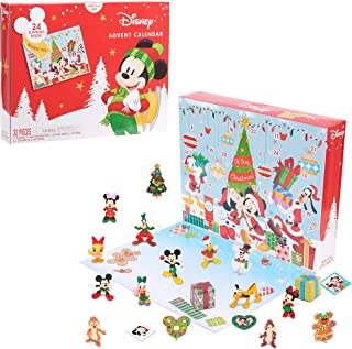 Disney Classic Advent Calendar 2021, 32 Pieces, Figures, Decorations, and Stickers, by Just Play