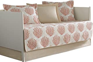 Laura Ashley 5 Piece Coral Coast Daybed Cover Set, Floral