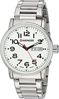 Men's 'Attitude Day/Date' Swiss Quartz Stainless Steel Casual Watch