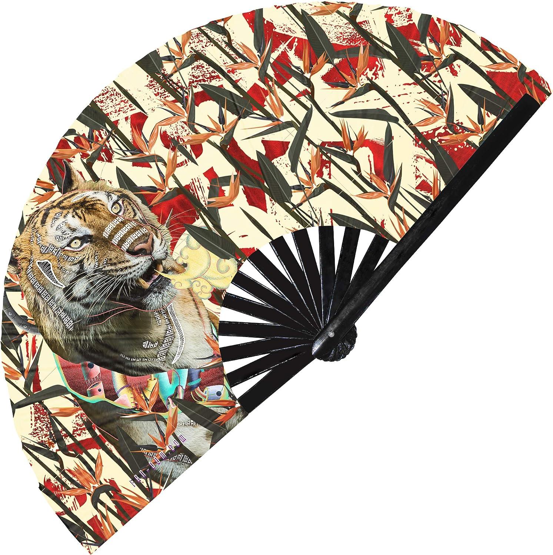 Hypnotiq Tiger - Ventilador de mano con diseño de tigre UV