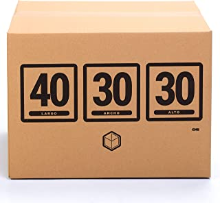 TeleCajas (10x) Lote 10 Cajas Cartón Reforzado (40x30x30 cms) | Con asas. Una Onda. 100% Reciclables