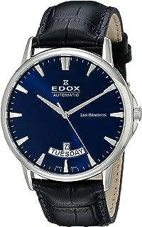 EDOX - Reloj Analogico para Hombre de Automático con Correa en Cuero 83015-3-BUIN