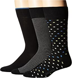 Cole Haan - 3-Pack Dot/Stripe Crew