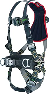 Miller RKNAR-QC-BDP/UBK Revolution Arc Rated Harness with Kevlar-Nomex Webbing, Removable Belt, Side D-Rings and Pad and Quick-Connect Leg Buckles, Black, Universal Size (Large/XL)