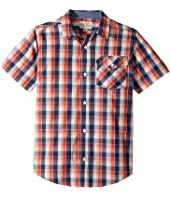 Lucky Brand Kids - Short Sleeve Plaid Shirt (Big Kids)
