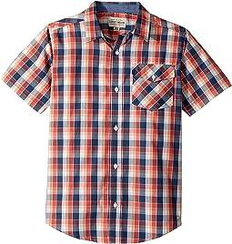 Lucky Brand Kids - Short Sleeve Plaid Shirt (Big Kids)