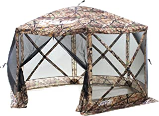 Quick Set Escape Screen Shelter, 140 x 140-Inch Portable Popup Gazebo Tent Rain Protection Easy Setup (6-8 Person), Camouflage/Black, Camouflage