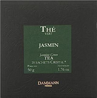 Dammann Freres Sachets, Vert Au Jasmin Tea Bags, Premium Gourmet French Jasmine Green Tea, 25 Count (Single Pack)