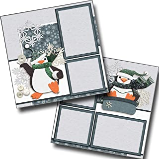 Snow Fun - Premade Scrapbook Pages - EZ Layout 3558