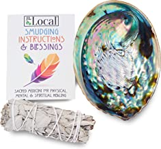 JL Local Origins Smudging Kit - White Sage Smudge Stick + Abalone Shell Bowl | Sustainably Sourced Healing Incense for Home Cleansing, Blessing, Protection, Prosperity, Meditation, Positive Energy