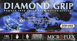 Microflex MF300XL-10PK - Diamond Grip Powder-Free Latex Gloves - Case of 10 B.