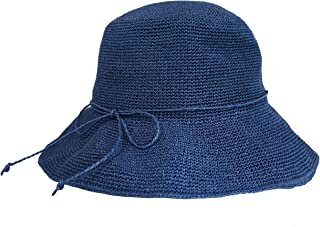 帽子 麦わら レディース 折りたたみ 紫外線対策 つば広 日よけ 無地