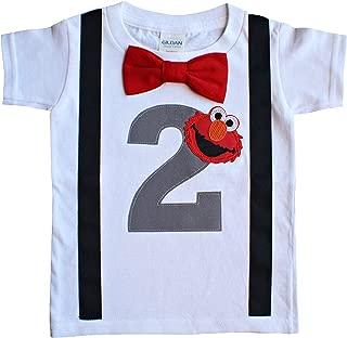2nd Birthday Shirt Boys Elmo Tee