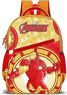 Priority Titan HD Avenger Ironman Yellow & Red Casual Backpack   Kid's School Bag