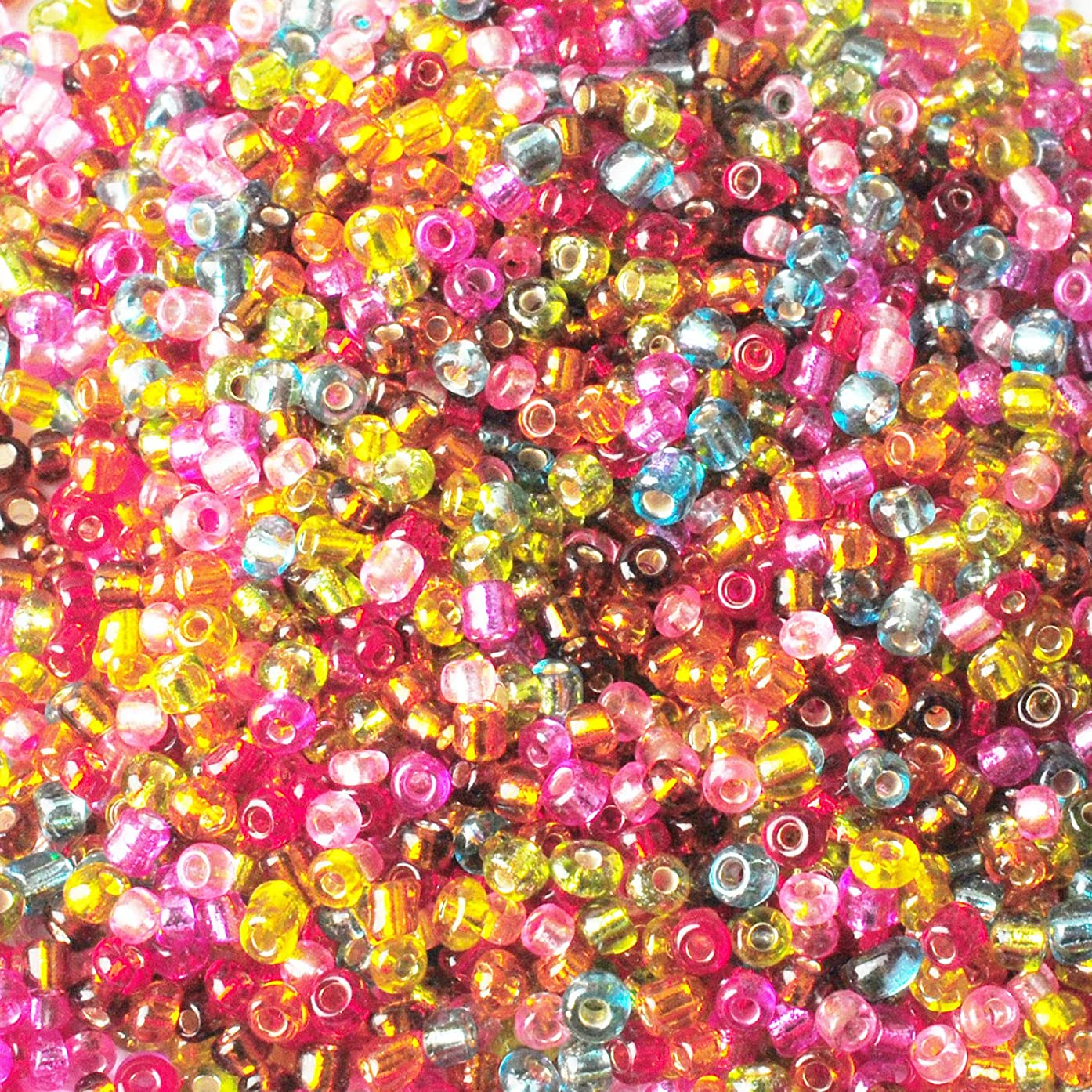 2000PCS Glass Seed Beads Small Loose Beads for DIY Jewelry Making - Mixed Color, 2mm