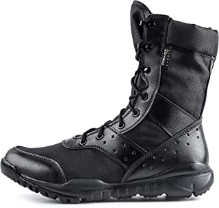 WWOODTOMLINSON Men's LD Lightweight Combat Boots Microfiber/Suede Leather Military..
