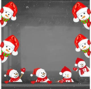 Snowman Wall Decal Christmas Window Stickers Removalble Wall Decals Car Decal Door Decals Christmas Decorations