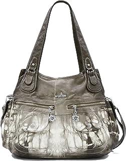 Angelkiss Women's Purse and handbags Top Handle Satchel Handbag Crocodile Shoulder Bag Purse