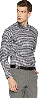 Diverse Men's Checkered Regular Fit Cotton Formal Shirt