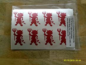 Dazzle Glitter Tattoos 30 x red Devil Stickers for a Scary Halloween