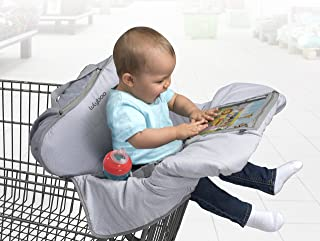 Lulyboo Baby Shopping and Grocery Cart and Highchair Cover Features iPad Cell Phone Tablet Device Clear Pockets For Toddler - Machine Washable Cover Folds Into Bag Fit Most Carts and Chairs