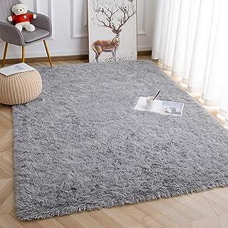Super Soft Kids Room Nursery Rug 5' x 8' Grey Area Rug for Bedroom Decor Living Room Floor Carpets Fur Mat by VaryCarry