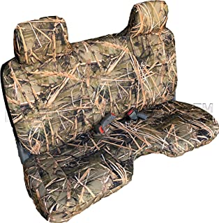 RealSeatCovers for Front Bench A27 Thick Triple Stitched Molded Headrests Large 5 to 7 inch Shifter Cutout Exact Fit Seat Cover for Toyota Tacoma Regular Cab (Muddy Water Camo)