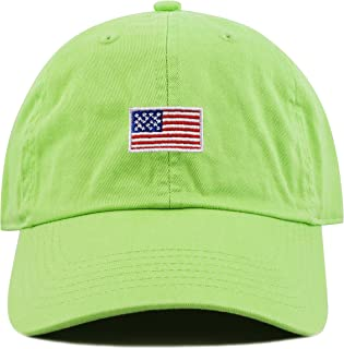 65fb7bb5a9c THE HAT DEPOT Kids American Flag Washed Low Profile Cotton and Denim  Baseball Cap Hat