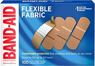 Band-AID Flexible Fabric Adhesive Bandages 3/4 inch X 3 inches 100 each