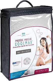 My Lovely Bed - Protège Matelas 180x200 cm   Alèse Tissu Coolmax® : évacuation Rapide de l'humidité   Aspect Respirant et ...