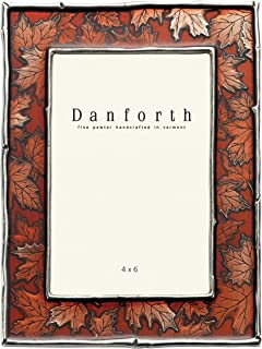 Danforth - Maple Leaf 4x6 Pewter Picture Frame (Autumn) - Handcrafted - Gift Boxed