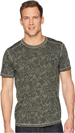 Frisco Woods Short Sleeve Crew Neck Flora Camo Print