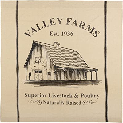 VHC Brands Valley Farms Farmhouse Barn Shower Curtain 72x72