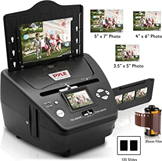 ポータブルインスタントメディアデジタイザーコピー機 - 写真、スライド、フィルムスキャナー、2.4インチカラーデジタルLCD - スーパーハイレゾ5.1 MPにネガティブフォトコンバーター - フォーマットサイズ35 mm 135 - Pyle PSCNPHO 53.5