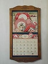 カントリーカレンダーフレーム LANG(ラングカレンダー)用 麦の彫刻 ダークブラウン