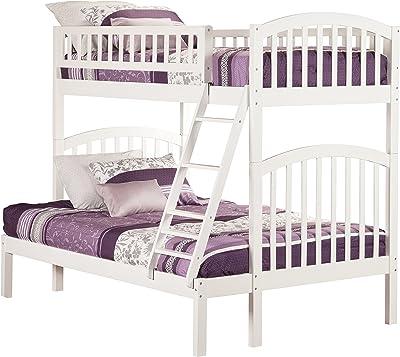 Atlantic Furniture Richland Bunk Bed, Twin/Full, White