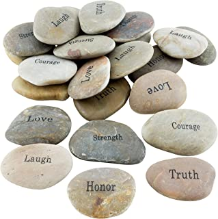 Stonebriar 25pc Inspirational Stones, Gifts for Friends & Family, Bulk Set