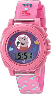 Peppa Pig Girl's Quartz Plastic Watch, Color:Pink (Model: PPG6000)