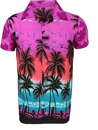 Camisa Hawaiana para Hombre, diseño de Palmeras, para la Playa, Fiestas, Verano y Vacaciones