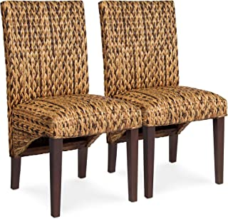 Best Choice Products Set of 2 Elegant Hand Woven Seagrass Dining Side Chairs - Brown