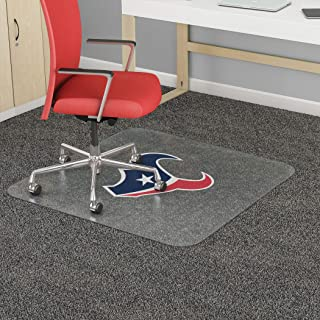 """Houston Texans NFL Frequent Use Chair Mat 60""""W x 46""""D Clear Vinyl"""