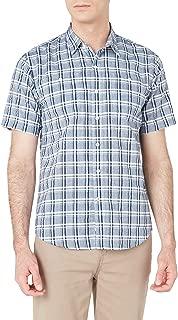 Dockers Erkek Günlük Gömlekler PERFORMANCE SEERSUCKER SHORT SLEEVE SHIRT