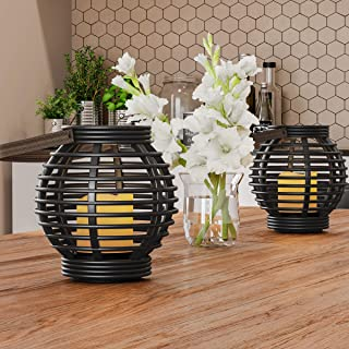 Amazon com: rattan lantern: Home & Kitchen