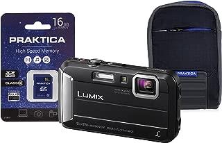 Panasonic dmc-ft30?COMPACT 系统相机?–?黑色(16?GB SDHC CLASS 10卡,16?MP)